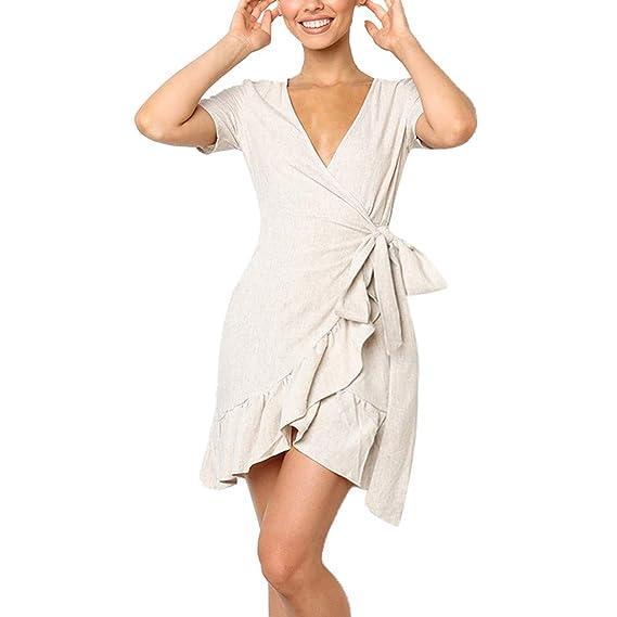 Vestido Con Volantes Y Lazo Para Mujer Vestido De Fiesta