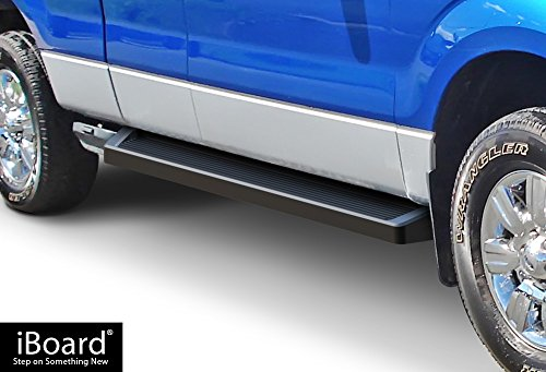 2004 Ford F150 Heritage Edition - APS iBoard Running Boards (Nerf Bars Side Steps Step Bars) Compatible with 2004-2014 Ford F150 Super Cab Pickup (Exclude Heritage Edition) (Black Powder Coated Running Board Style)
