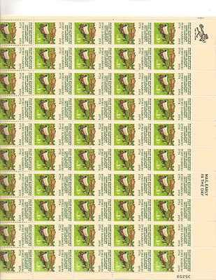 Cent Stamp Sheet (1st Kentucky Settlement Fort Harrod Full Sheet of 50 x 10 Cent Stamps Scott 1542)