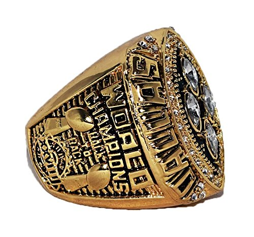 DALLAS COWBOYS (Michael Irvin) 1993 SUPER BOWL XXVIII WORLD CHAMPIONS (Back to Back Champs) Rare & Collectible High Quality Replica NFL Football Championship Ring with Cherrywood Display Box