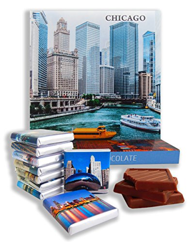 DA CHOCOLATE Candy Souvenir CHICAGO CITY Chocolate Gift Set 5x5in 1 box (0269)(Prime River) (Macys Chicago)