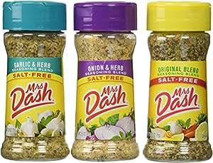 Mrs. Dash Combo All Natural Seasoning Blends 2.5 oz; Original,Onion&Herb,Garlic&Herb