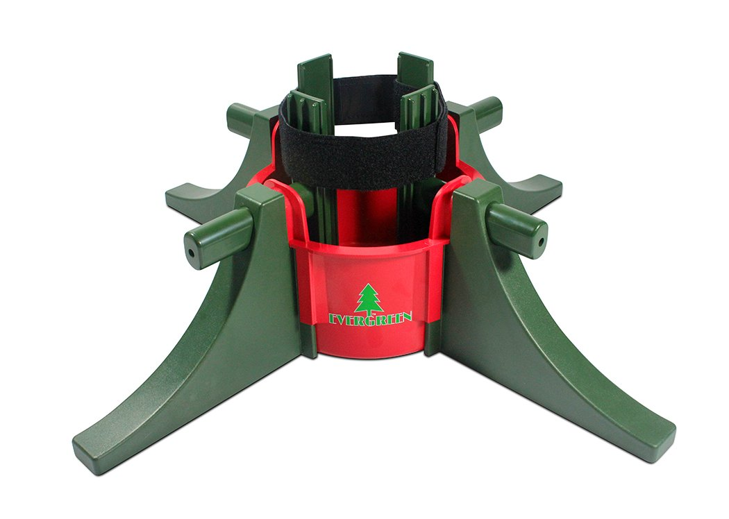 Evergreen Christmas Tree Stand For Real Live Trees - Up To 10 Feet