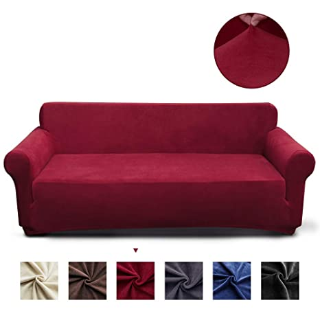 Enjoyable Miulee Stretch Sofa Cover Velvet Couch Cover Fitted Sofa Slipcover Furniture Protector Washable For Pets And Kids Loveseat Red Download Free Architecture Designs Pushbritishbridgeorg