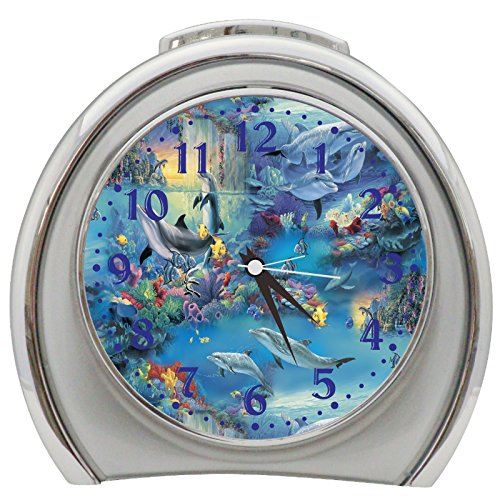 Dolphin Fish Table Desk Alarm Clock Night Light h0009 - Dolphin Alarm Clock