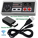 NES Classic Edition Mini Controller -TURBO EDITION-Rapid Buttons for Nes Gaming System with 2.4G Wireless Receiver