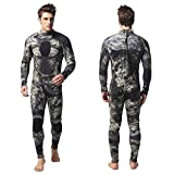 Nataly Osmann Mens Wetsuits Camo Neoprene 3mm Full Body Diving Suit
