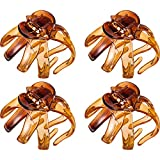 4 Pieces Large Grip Octopus Clip Spider Hair Claw Octopus Jaw Hair Claw Clips for Thick Hair(8.5 cm,Brown)