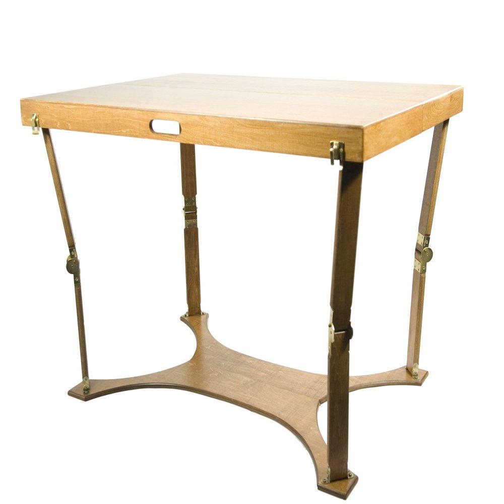 Spiderlegs Folding Picnic/Project Table, 42-Inch, Mahogany