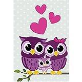 Owl Family Love, DIY Diamond Painting, Crystal Cross Stitch, Diamond Embroidery