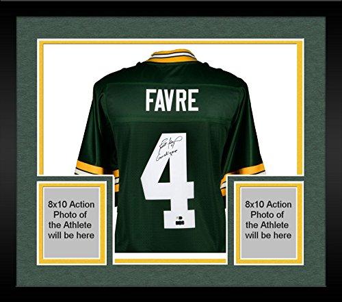 Framed Brett Favre Green Bay Packers Autographed Green Pro-Line Jersey with Gunslinger Inscription - Fanatics Authentic Certified