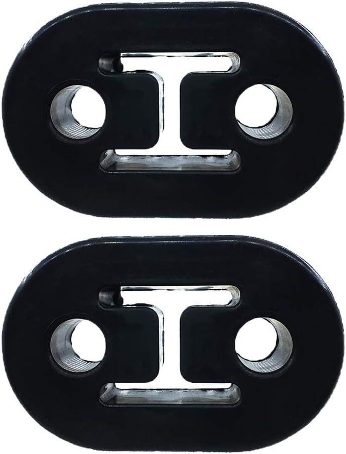 78mm x 48mm x 26mm Pack of 4 Black Universal Fit 2 Hole Exhaust Hanger Bushing Muffler Insulator Shock Absorbent Mount Bracket High Density Rubber 12mm Hole