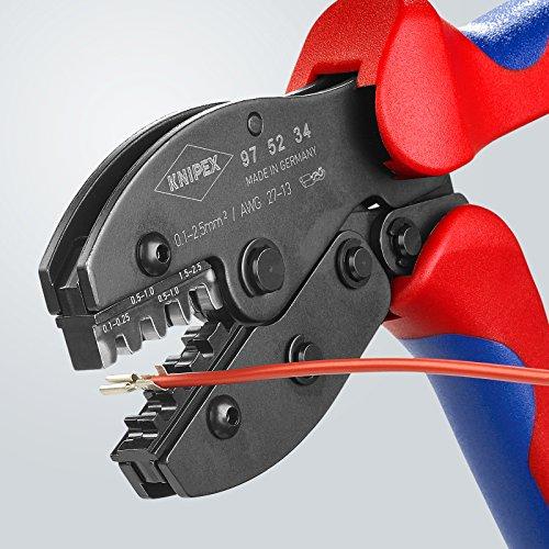 Knipex PreciForce® Crimpzange 220mm für unisolierte Pressverbinder 1,5-10mm²