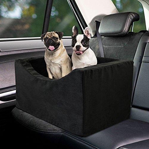 Booster Foam Car Seat (Co-pilot Dog Booster Car Seat (Black, 18