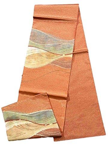 放映現象敏感なリサイクル 袋帯  流水模様 金通し 正絹 お太鼓柄