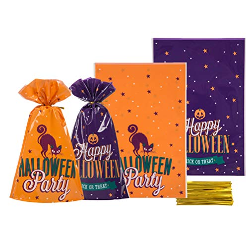Halloween Cello Bags 5.5x8 inch for Treat Candy