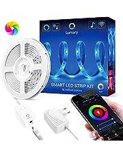 Wi-Fi Tira LED RGB Alexa, Lumary Tira LED Smart 5M App Control, Funciona con Alexa,Google Home, Sync con Música,Multicolor Luces Tira LED, Luces Decorativas para Habitación Dormitorio Cocina y Fiesta.