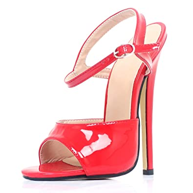 9ffe3bda1511e JiaLuoWei Women High Heel Sandals Open-Toe Ankle Strap 18cm High Heels  Summer Fashion Sexy