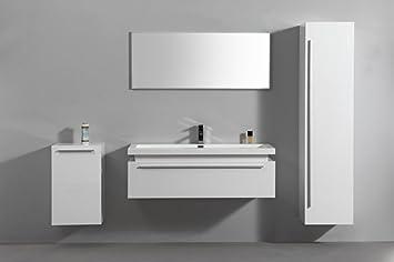 Meuble salle de bain complet 1 Vasque 1 Miroir 2 colonnes ...