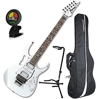 ibanez steve vai jem jr white full size electric guitar w gig bag tuner and stand. Black Bedroom Furniture Sets. Home Design Ideas