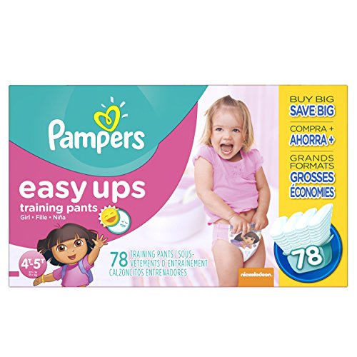 (Pampers Easy Ups Training Pants Pull On Disposable Diapers for Girls Size)