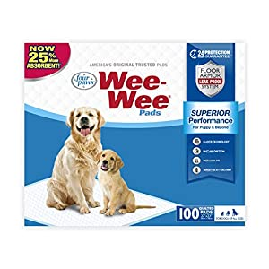 Wee Wee Puppy Pee Pads for Dogs | 100 Count | Puppy Training Pads for Dogs | Standard Size Pads