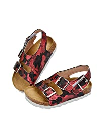 Pajamasea Children School Shoes Boys Girls Sandals Leather Camouflage Shoes Baby Sandals