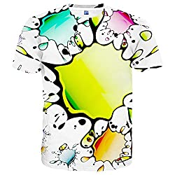 Unisex 3D Print Colorful Tees