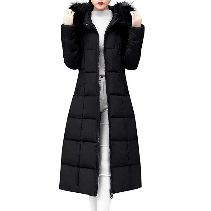 discount super cute huge selection of Lelili Women Long Maxi Coat Plus Szie Fashion Packable Long Sleeve Faux Fur  Hoode Zip Button Up Padded Overcoat Outwear