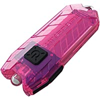 Nitecore T Series Tube Pink USB Charging Keyring. Integrated Li-ion Battery. Tiny USB Rechargeable Light, 1 - 45 Lumens, Water Resistant, Maximum Runtime Up To 48 Hours