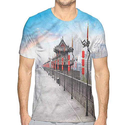 Funny t Shirt Ancient China,Xian City at Dusk Men's and Women's t Shirt XXL -
