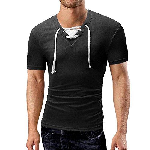❤VENMO Camisetas hombre,Camisetas hombre originales,camisas hombre,Polos hombre,hombres verano Camisetas de manga corta con Vendaje,Casual Camisetas blusa ...