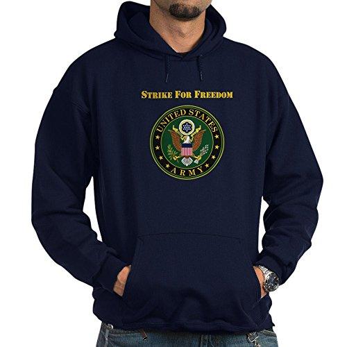CafePress Strike for Freedom Army Hoodie Pullover Hoodie, Classic & Comfortable Hooded Sweatshirt Navy