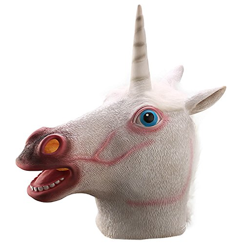 Ylovetoys Unicorn Head Mask Halloween Costume Party Novelty Latex Animal Mask ¡­ (Cheap Halloween Costumes Male)