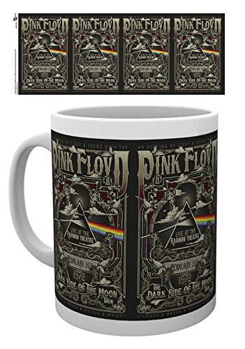 Pink Coffee Photo - Set: Pink Floyd, Rainbow Theatre Photo Coffee Mug (4x3 inches) And 1x 1art1 Surprise Sticker