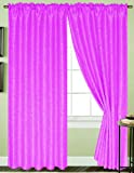 RT Designers Collection Cooper Window Curtain Panel, 54 by 90-Inch, Neon Pink