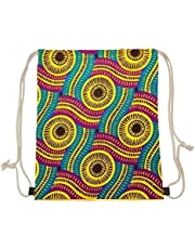 Xinind Cute Printing Drawstring Bags Lightweight Casual Durable Backpacks Gym Bag for Teen Boys,Girls