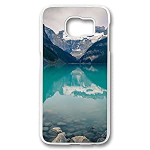 Diy S6 Cases Clear Canada Lake Louise Green Water Nature Design [Slim-Fit] Protective Cover Shock-Absorption Bumper for Samsung Galaxy S6