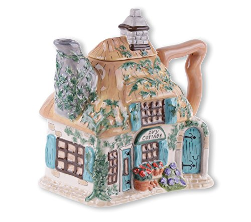 Blue Sky Ceramic Ivy Cottage Teapot, 9 x 5.5 x 8