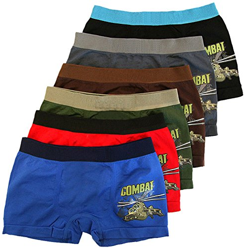 ToBeInStyle-Boys-Pack-of-6-Seamless-Boxer-Briefs-Combat-Helicopter