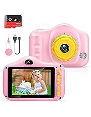 VATENIC Kinderen camera speelgoed kinderen digitale camera mini oplaadbare digitale camera 3,5 inch HD-scherm peuter videorecorder, beste cadeau voor 3 tot 12 jaar jongens en meisjes-Roze