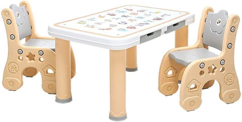 JN 子供幼稚園赤ちゃんの安全の書き込みに子供表スツールテーブルチェアセットは、ゲーム木製のテーブルプラスチック安定学びます 勉強台 (Size : B)