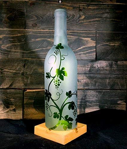 Hurricane Candle Shade Etched with Grapevine ()