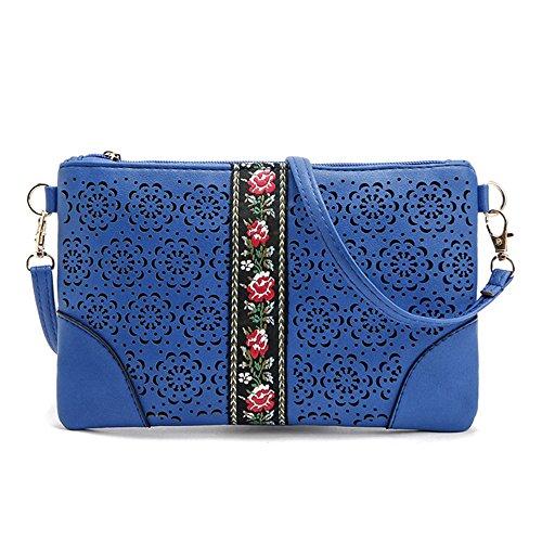 Purse Crossbody DukeTea Bag Girls Women Phone Crossover Leather Blue Small Teen for qZZw4fa