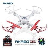 AKASO X5C 2.4Ghz 6-Axis Gyro RC Quadcopter Drone UAV RTF UFO with HD Camera
