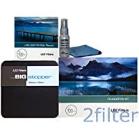 Lee Filters 82mm Big Stopper Kit - Lee Filters 4x4 Big Stopper (10-stop ND Filter), Lee Filters Foundation Kit and 82mm Wide Angle Ring with 2filter cleaning kit