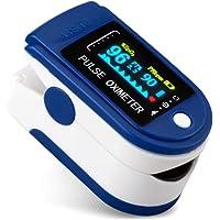 Oxímetro de pulso,Medidor Digital de Oxígeno en Sangre y Sensor de Pulso con Alarma…