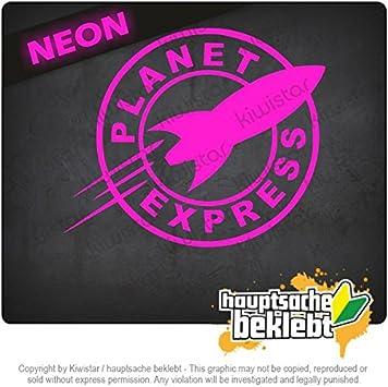Decal Sticker Bumper Cut Vinyl Motorcycle Neon Rocket 4,7 x 3,9 15 Colors KIWISTAR Rocket Planet Express Chrome