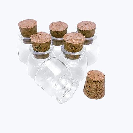 Jarvials 12pcs10ml Mini Botellas de Cristal Transparentes con ...