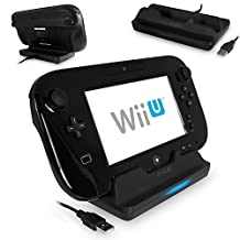 G-HUB® - Nintendo Wii U GamePad Charging Dock in BLACK - Charges 1x WiiU GamePad Controller - Features a Blue LED Charge Indicator Light - Dock is powered by USB